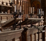 Choir music stands, Caius college chapel, Cambridge - Copy