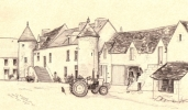 Le Houget courtyard with tractor