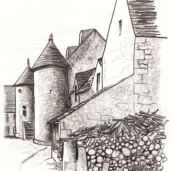 Le Houget from the courtyard